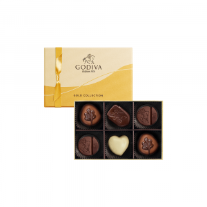 Gold Collection Chocolate Gift Box 6pcs