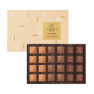 Assorted Chocolate Carré Collection 36pcs