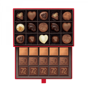 Chocolate Luxury Gift Box Red 30pcs
