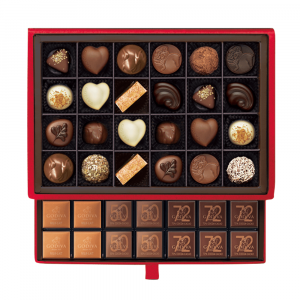 Chocolate Luxury Gift Box Red 59pcs